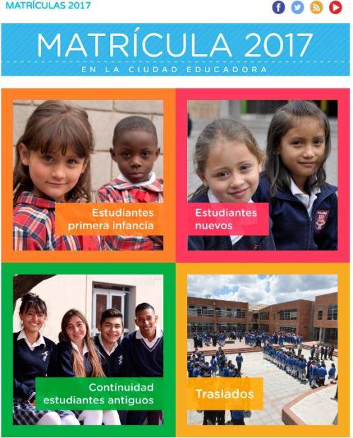 matriculas 2017